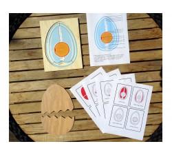 Vrstvené puzzle VAJÍČKO + zdarma karty