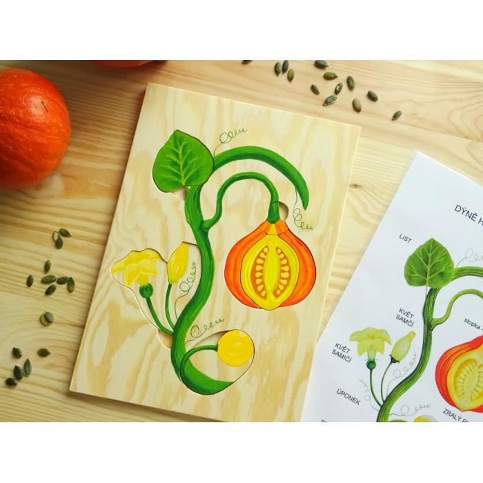 Ručně malované puzzle DÝNĚ HOKKAIDO + zdarma karta